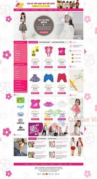 Web về thời trang trẻ em