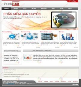 Website công ty phần mềm Techlink