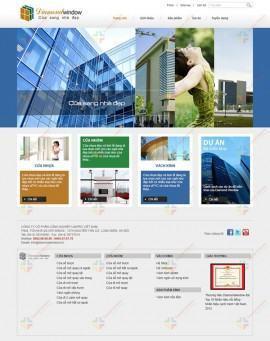 Website giới thiệu công ty Diamond Window