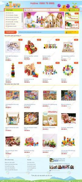 Website bán đồ chơi