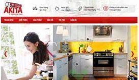 Web về dụng cụ bếp AKITA