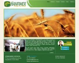 Website giới thiệu công ty Hanfimex