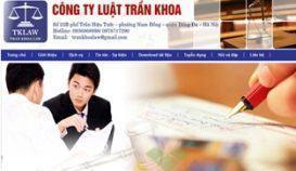 Website công ty Luật Trần Khoa