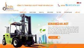 Website giới thiệu công ty Công ty TNHH dịch vụ kĩ thuật xe nâng 24h