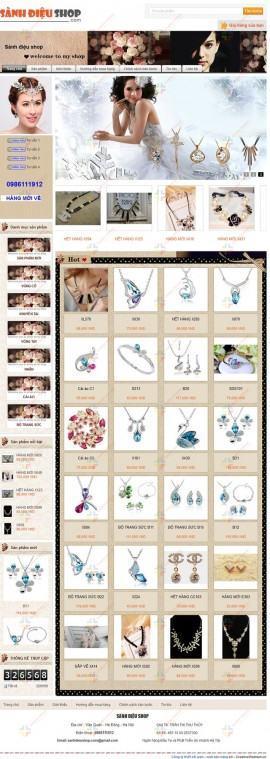 Website trang sức Sành Điệu Shop