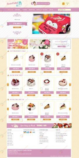 Website bánh ngọt Susie Cakes