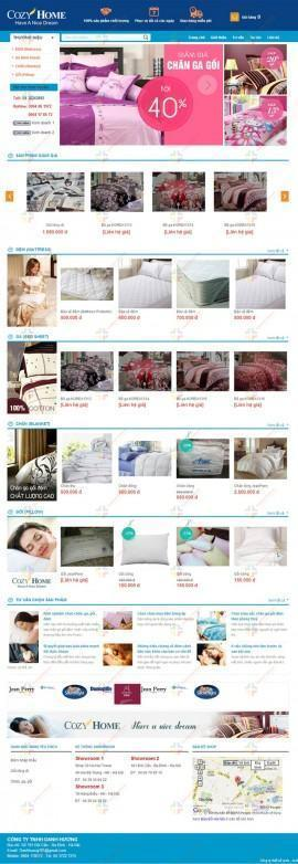 Website chăn ga gối Cozy Home