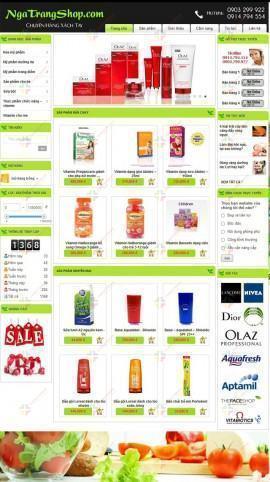 Website thực phẩm chức năng Trí Long