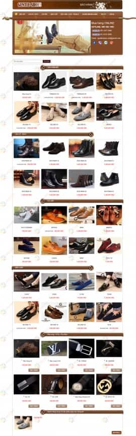 Website giày da nam GENTLE SHOES