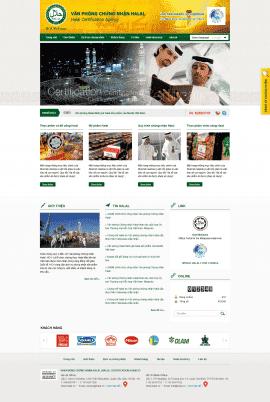 Website văn phòng chứng nhận Halal