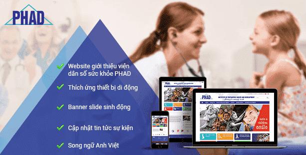 Web Viện dân số sức khỏe PHAD