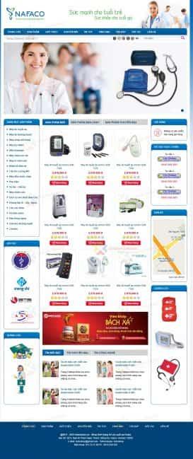 Web phụ kiện y tế NAFACO