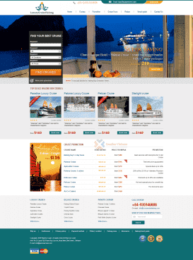 Website du lịch Luxury Cruise Halong