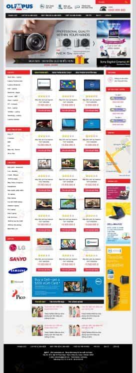 Web bán máy tính, laptop OLIMPUS