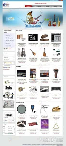 Website nhạc cụ Victoriamusic
