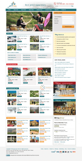 Website du lịch Asia Eyes