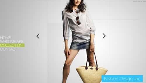 Thiết kế website thời trang với các slide ảnh