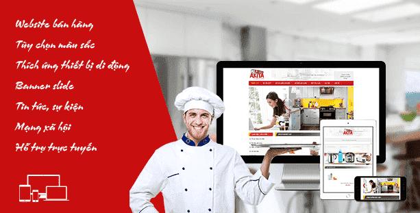 Web về thiết bị nhà bếp Home Lux