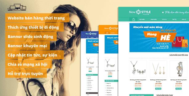 Web phụ kiện thời trang New Style