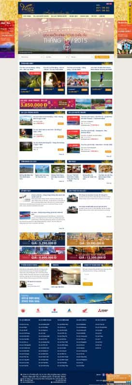 Website du lịch Vietlike Travel