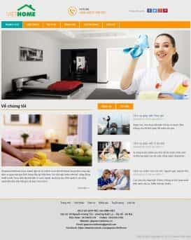 Website dịch vụ giúp việc Viet Home