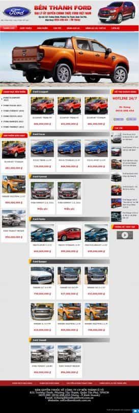Website bán xe Ford Bến Thành