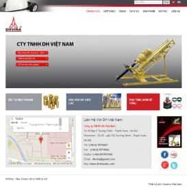 Website Máy khoan thủy lực DH Việt Nam