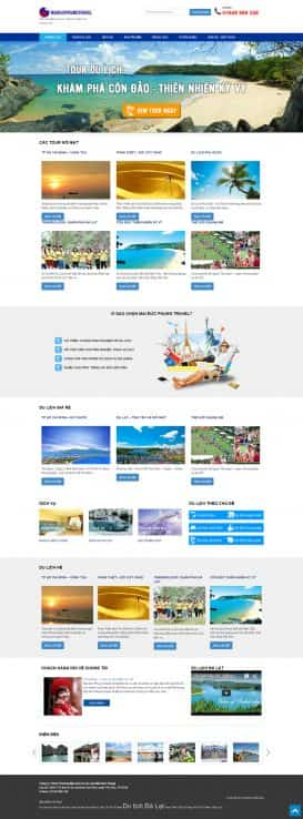 Website du lịch Mai Đức Phụng