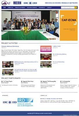 Website Trung tâm nghiên cứu Mernetwork