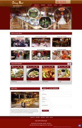 Website nhà hàng Sông quê