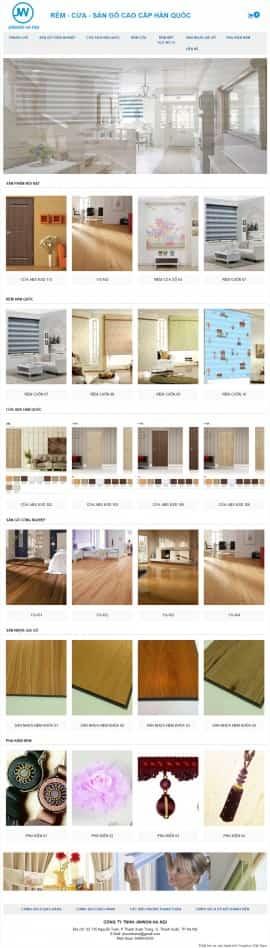 Website rèm cửa sàn gỗ Hàn Quốc