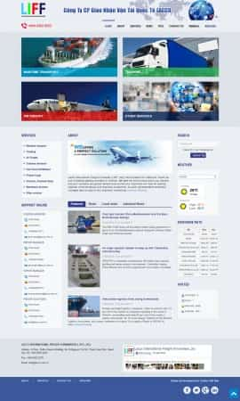 Website dịch vụ giao nhận