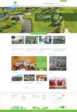 Website dự án Ecopark