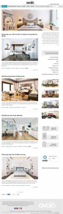 Website thiết kế nội thất Tinh tế