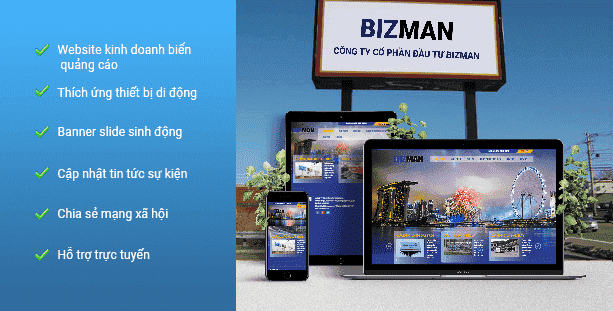 Website Công ty quảng cáo Bizman