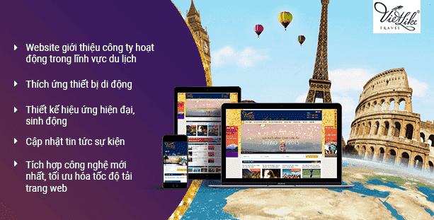 Website du lịch Vietlike Travel
