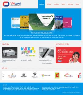 Website giải pháp thẻ VNCard