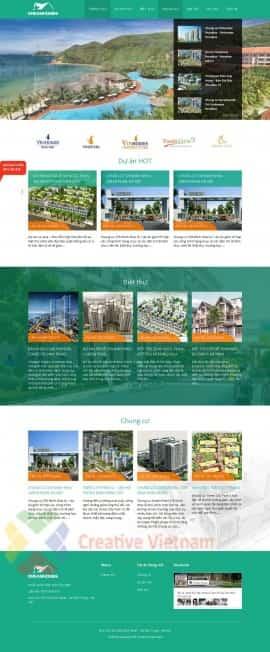 website BĐS Dreamhomes