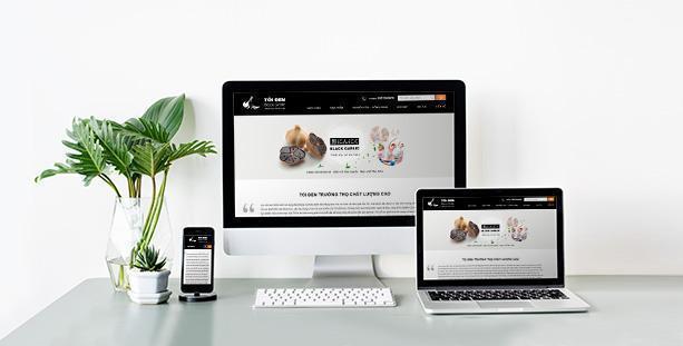 Website giới thiệu tỏi đen