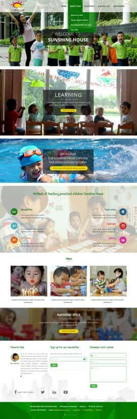 Website trường mầm non Sunshine house