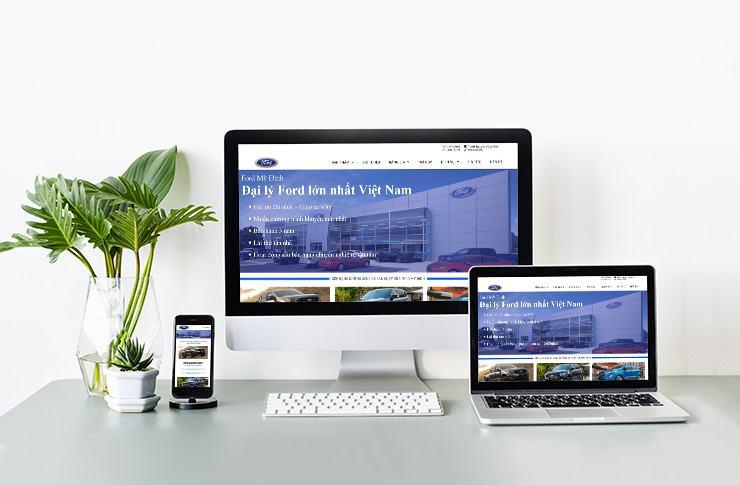 Website bán ô tô Hà Thành Ford