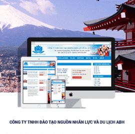 Website đào tạo nhân lực và du lịch ABH