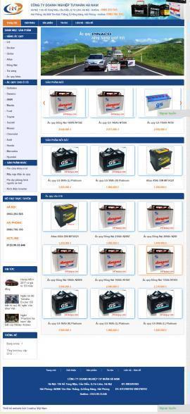 Website bán ắc quy