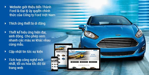 Website ô tô Bến Thành
