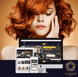 Website salon tóc Maxsta