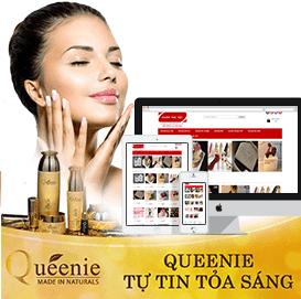 Website mỹ phẩm Queenie