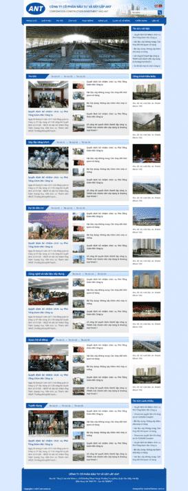 Website giới thiệu công ty Ant-icons