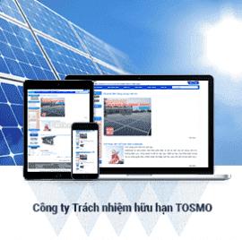 Website năng lượng mặt trời Tosmo