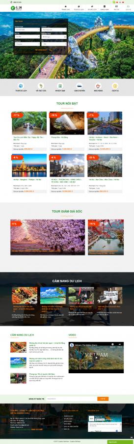 Webiste Du lịch 7tours