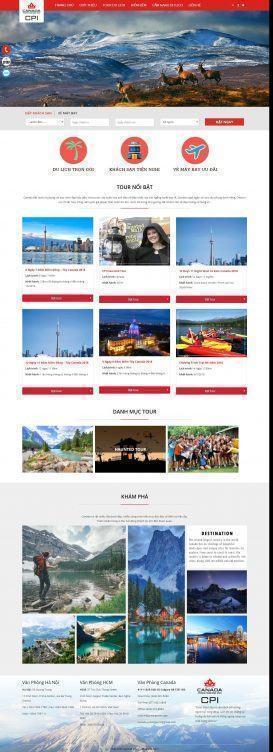 Website Du lịch Canada